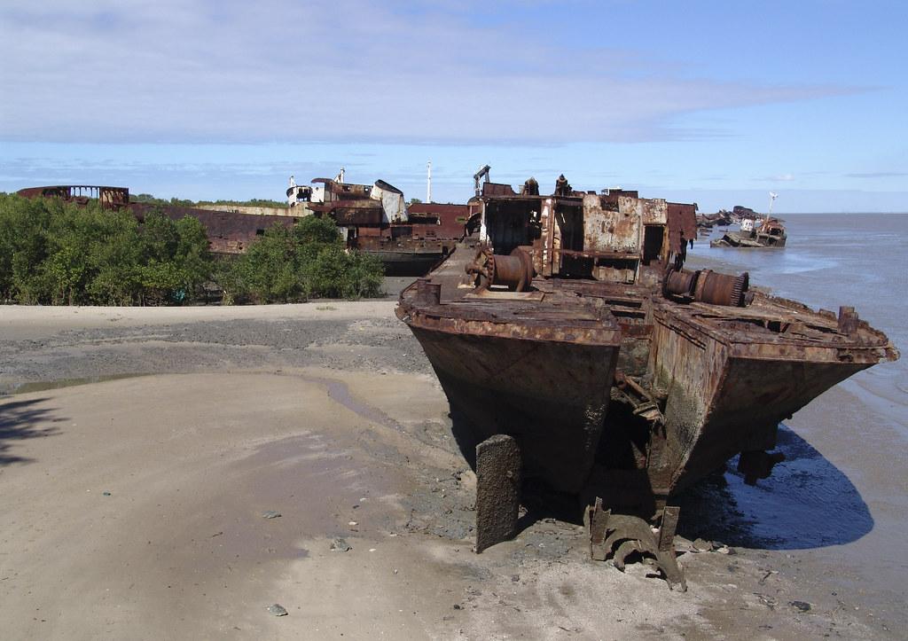 Ship Graveyard in Beira, mozambique